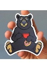 Sprouted Scribbles Coffee Bear Sticker
