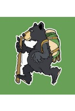Sprouted Scribbles Backpacker Black Bear Sticker