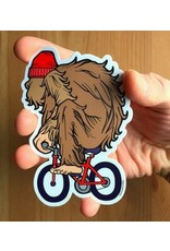 Sprouted Scribbles Yeti Bike Sticker