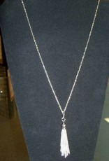 11 - Virginia Ackerman Silver Tassel Necklace
