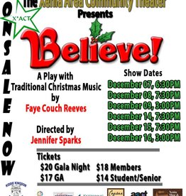 Kettering Theater Believe! GALA @  X*ACT Friday Dec., 07, 2018 | 6:30 PM Christmas Show w/ SANTA