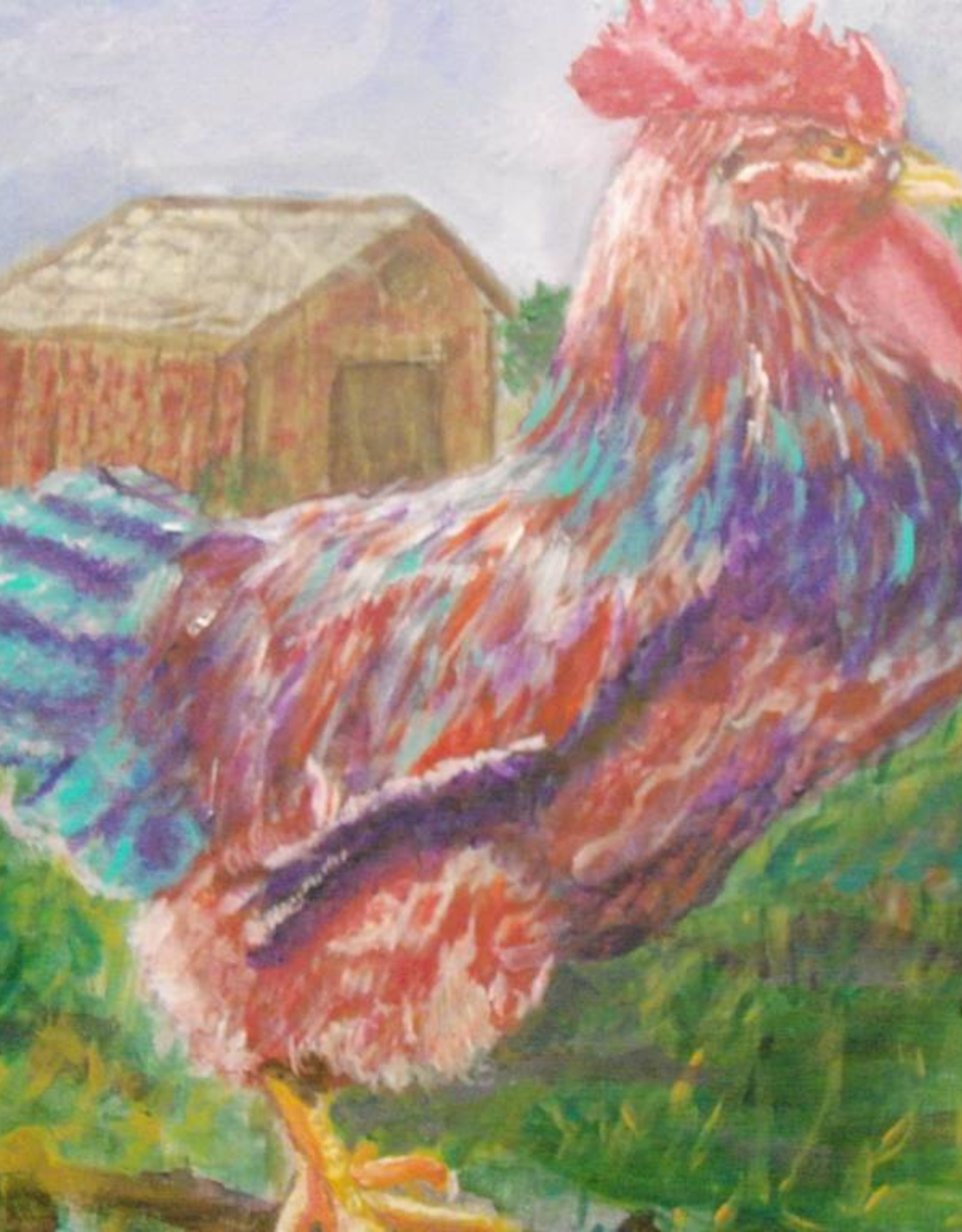 15 - Gary Fauble rooster acrylic