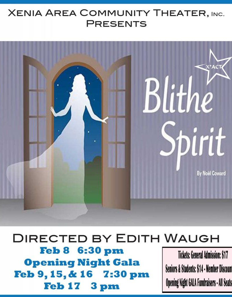 Kettering Theater Blithe Spirit GALA @  X*ACT Friday Feb., 08, 2019 | 6:30 PM