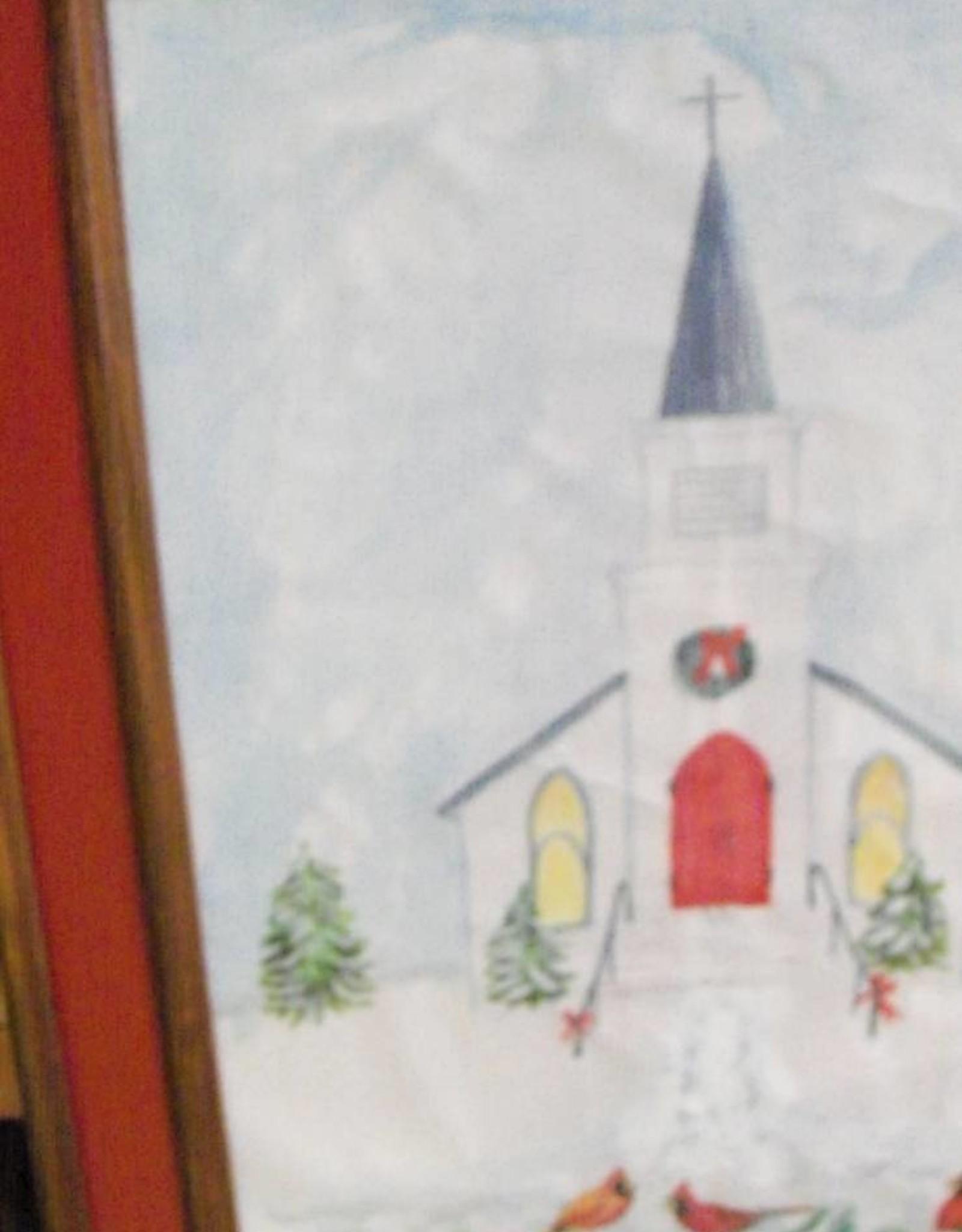19 - Harry Osman Church & Cardinals Winter Painting