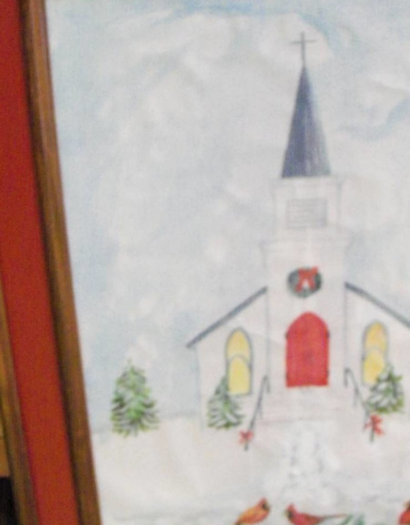 19 - Harry Osman Church & Cardinals Winter Painting