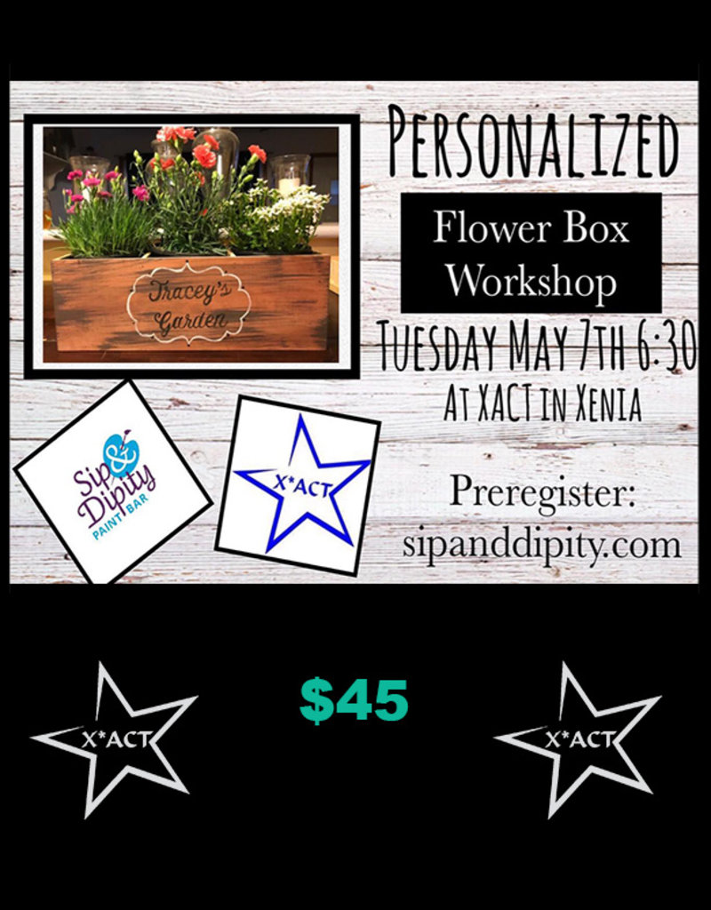 Coterel Gallery Sip and Dipity - Tuesday May 7 @ 6:30 PM - Flower Box (Adults Only)