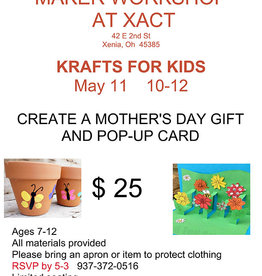 Coterel Gallery Maker Kids workshop - May 11, 2019 @ 10AM - Mothers Day Gift and Pop-up Card