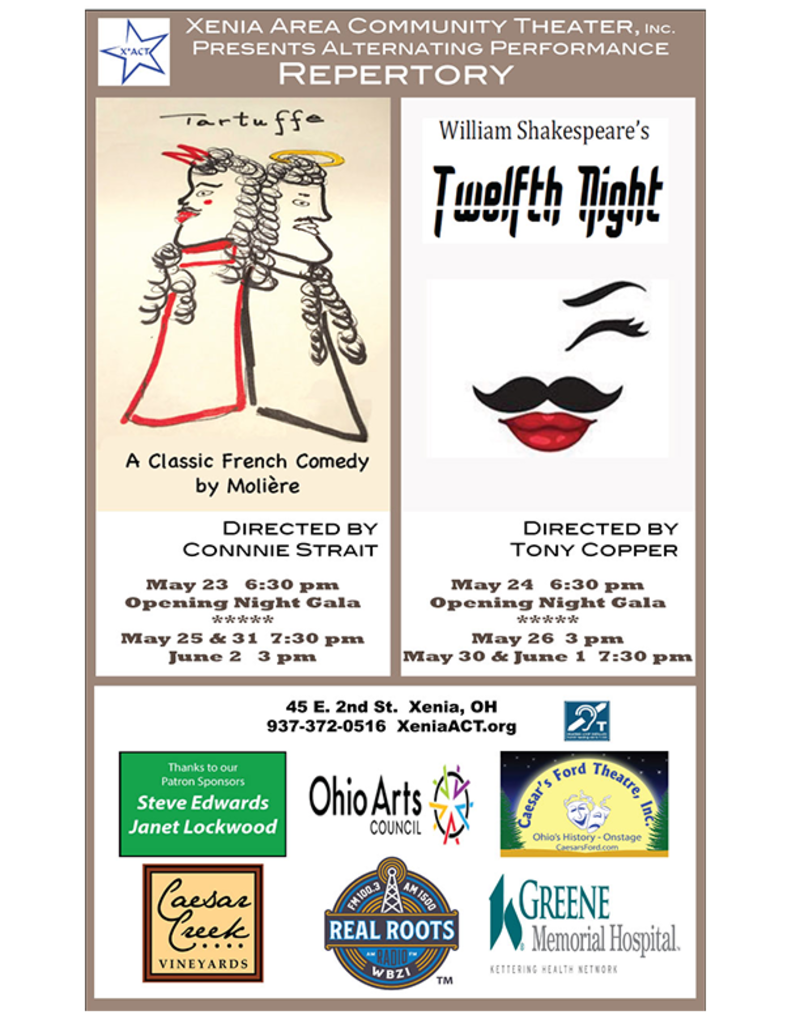 Kettering Theater TWELFTH NIGHT - Thu., May 30, 2019 @ 7:30 PM