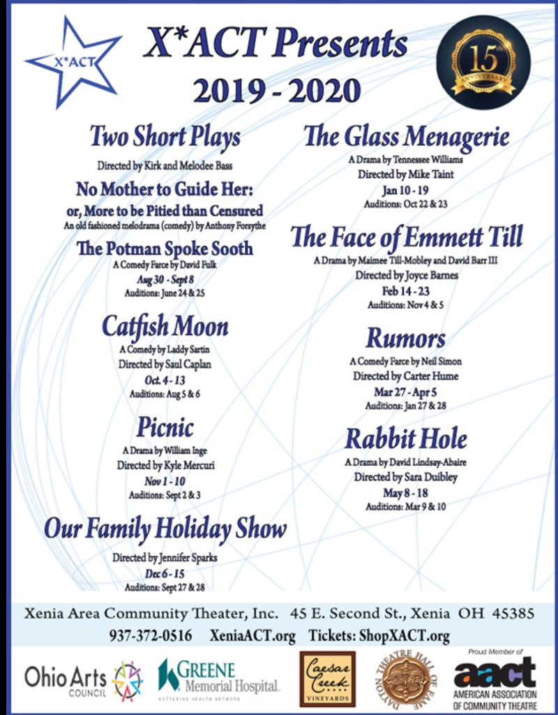 Kettering Theater Season Subscription 2019-2020 Student/Senior/Military - Full Season - 8 Shows