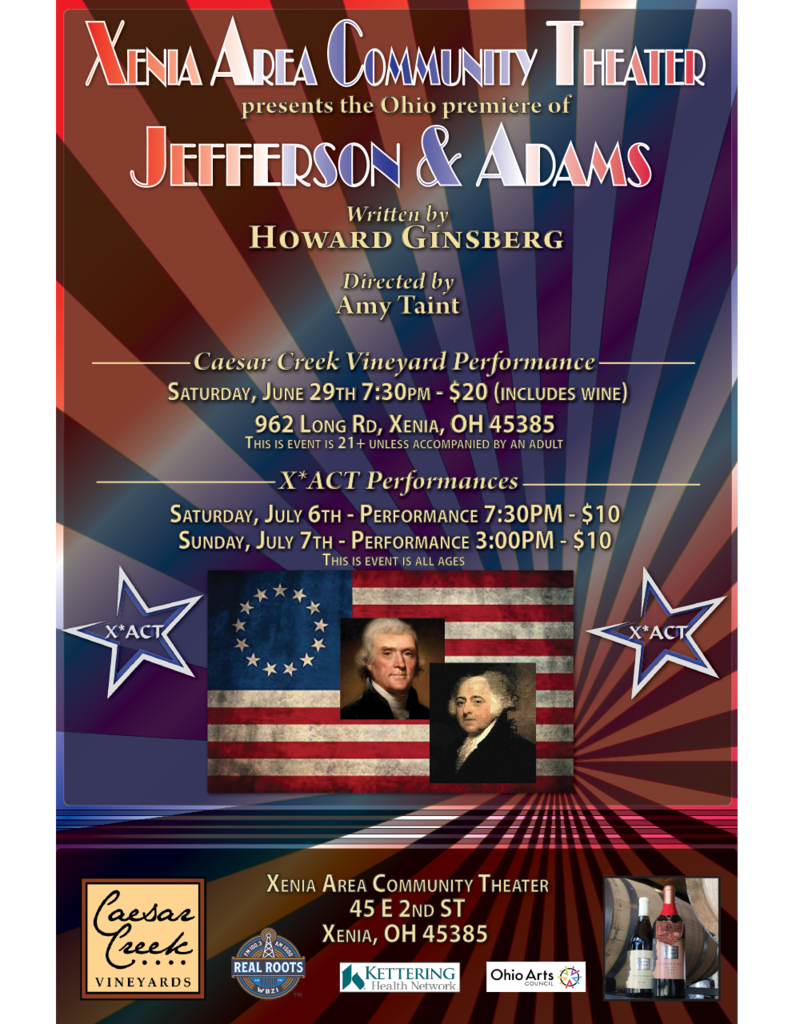 Kettering Theater Jefferson & Adams - Saturday, July 6th 7:30pm @ X*ACT