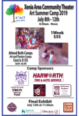 Coterel Gallery X*ACT Art Camp | July 8th to July 12th, 2019