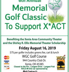Shirley R Ellis Memorial Golf Classic for X*ACT 2019 Shirley R. Ellis Memorial Golf Classic For X*ACT