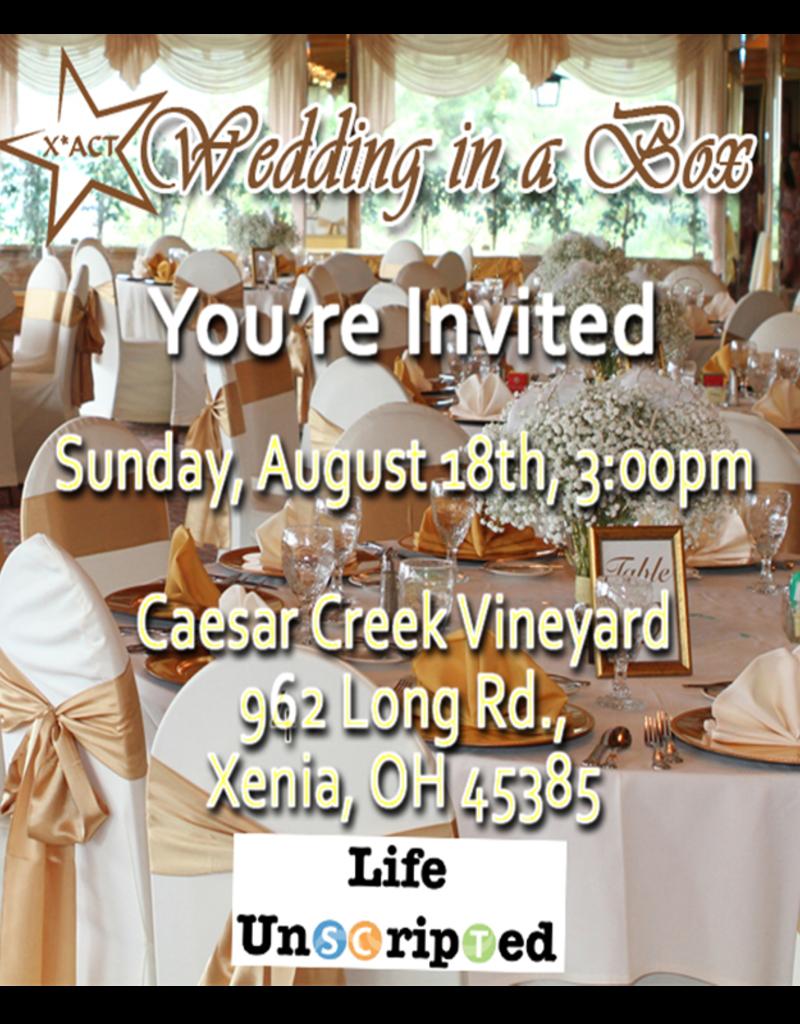 Kettering Theater Wedding in a Box   Single Presale Tix   August 18, 2019 - 3pm   Caesar's Creek Vineyard single