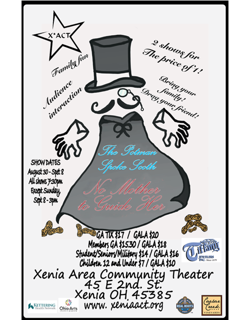 Kettering Theater Two Short Plays - Sat, Sept., 7, 2019 | 7:30 PM