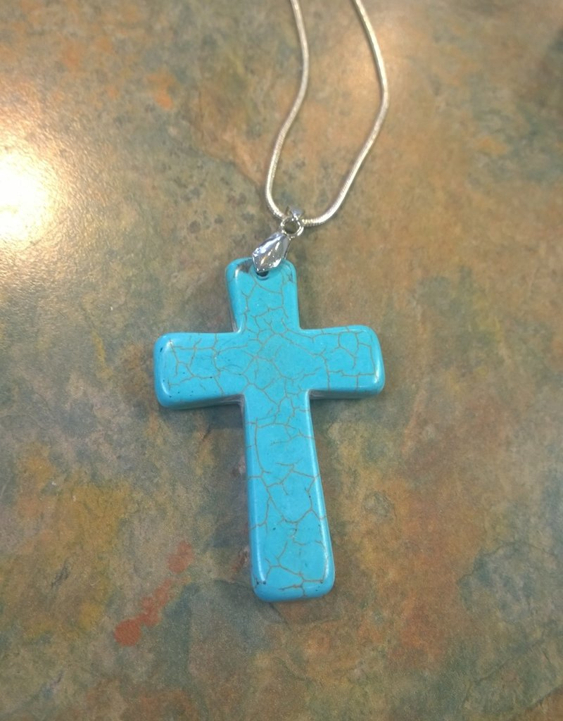 11 - Virginia Ackerman Turquoise Cross