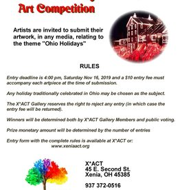 Coterel Gallery Ohio Holidays 2019 Art Competition DEADLINE: NOV 16th