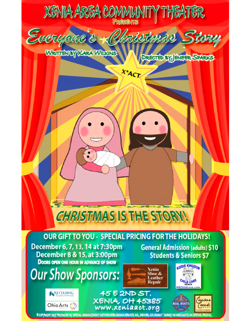 Kettering Theater Everyone'sChristmas Story | Friday, Dec.,13, 2019| 7:30 PM Christmas Show