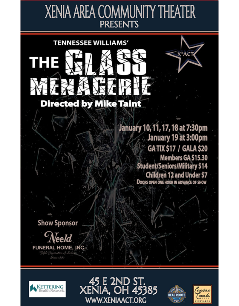 Kettering Theater Glass Menagerie - Saturday, January 18, 2020 | 7:30 PM
