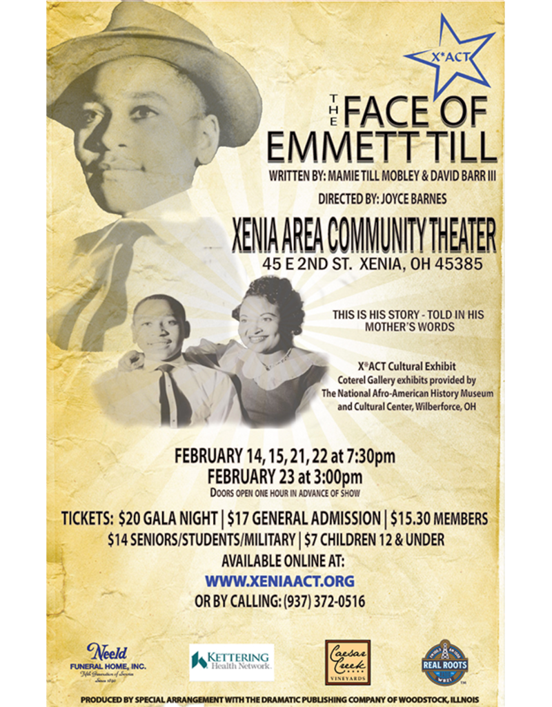 Kettering Theater The Face of Emmett Till - Saturday, February 15, 2020 | 7:30 PM