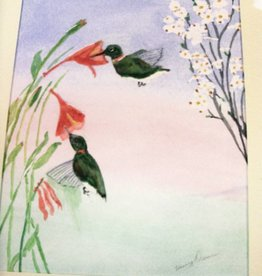 19 - Harry Osman Humming Birds in Honey Suckle 11X14