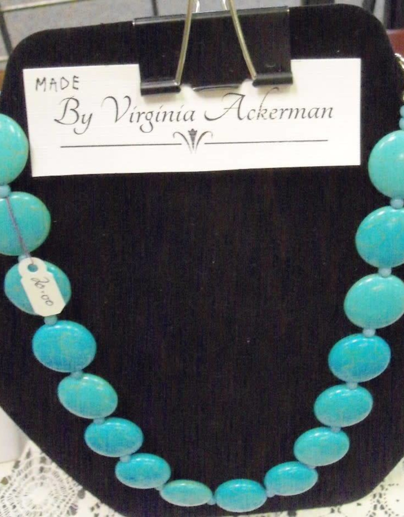 11 - Virginia Ackerman Beaded Turquois
