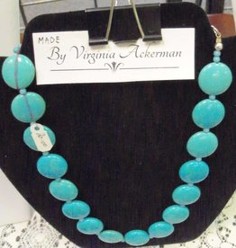 11 - Virginia Ackerman Beaded Turquois