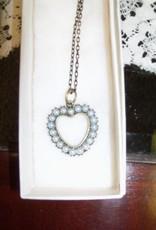 11 - Virginia Ackerman Pearl Heart Necklace