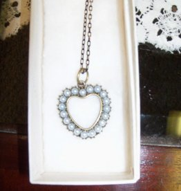 11 - Virginia Ackerman Pearl Heart Necklace