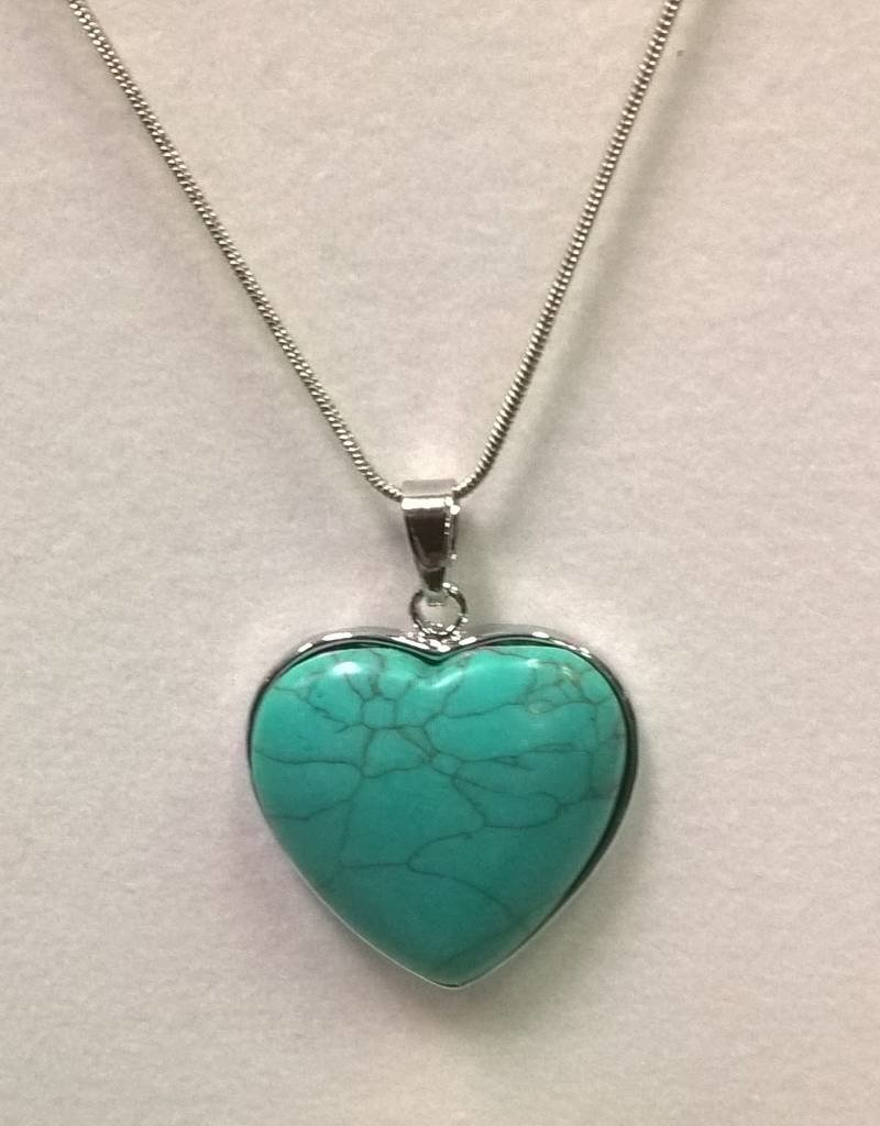 11 - Virginia Ackerman Turquoise Heart Necklace