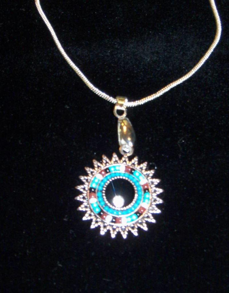 11 - Virginia Ackerman Beaded Pendant Necklace
