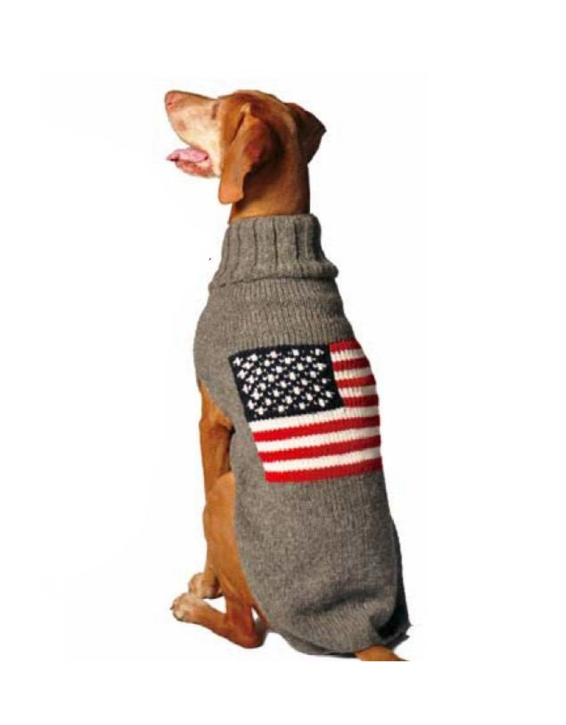 Chilly Dog Sweaters CHILLY DOG American Flag Sweater