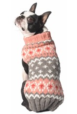 Chilly Dog Sweaters CHILLY DOG Peach Fairisle Sweater