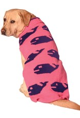 Chilly Dog Sweaters CHILLY DOG Pink Whales Sweater