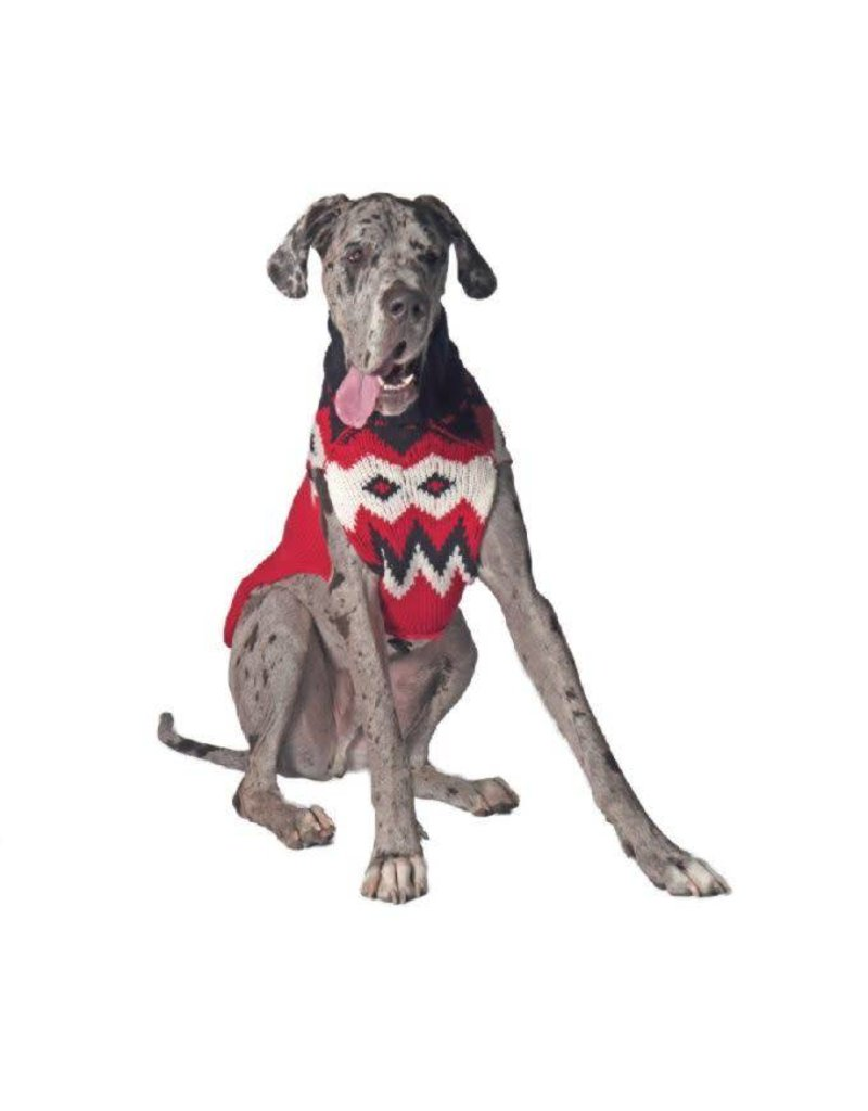 Chilly Dog Sweaters CHILLY DOG Red Fairisle Sweater