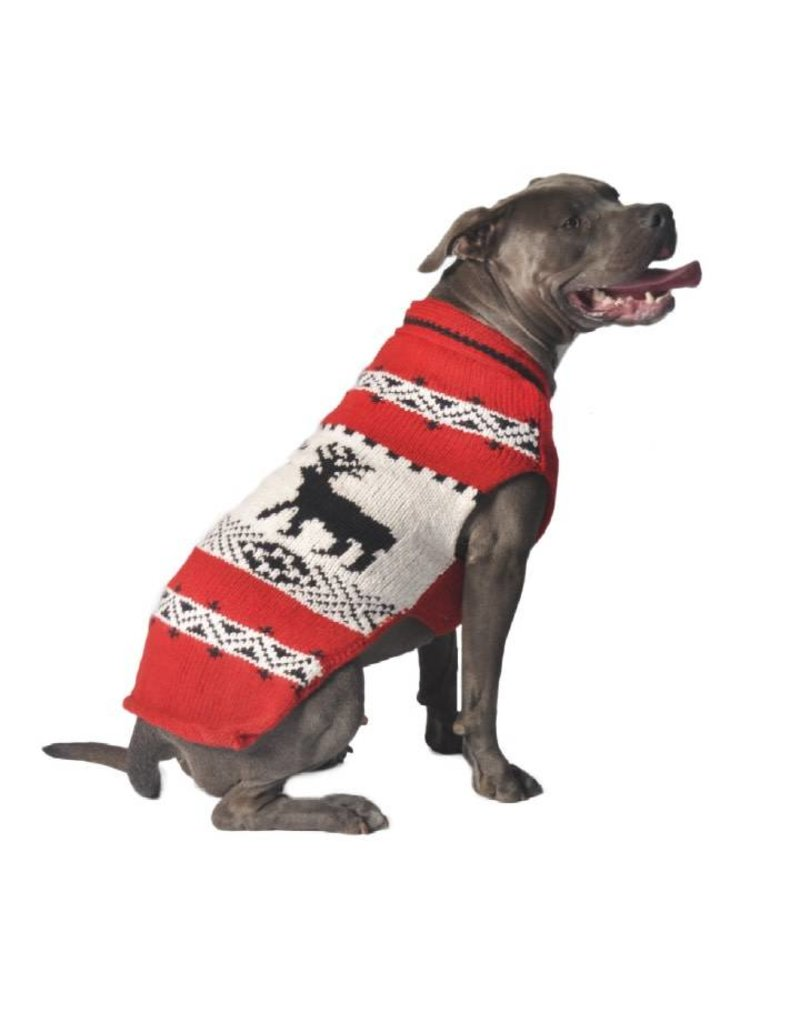Chilly Dog Sweaters CHILLY DOG Red Reindeer Sweater
