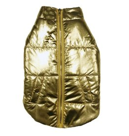 Fab Dog FAB DOG Gold Metallic Puffer
