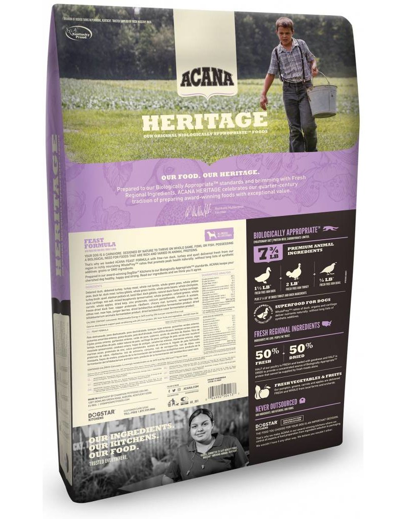 Acana ACANA Heritage Feast Grain-Free Dry Dog Food