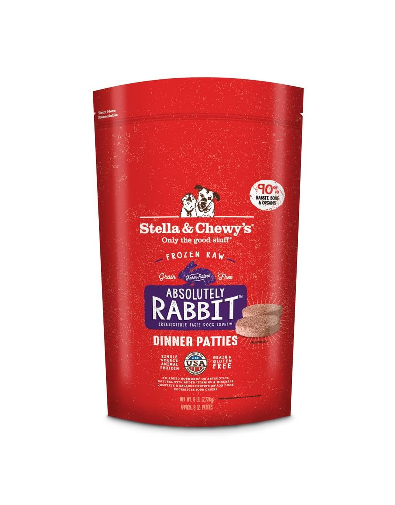 Stella & Chewys STELLA & CHEWY'S Absolutely Rabbit Dinner Frozen Raw Dog Food Patties