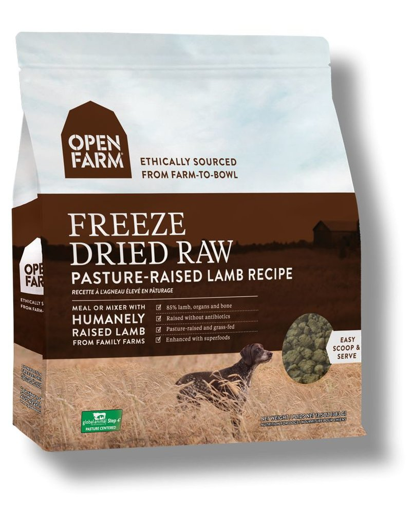 Open Farm OPEN FARM Freezedried Dog Food Lamb 13.5 OZ
