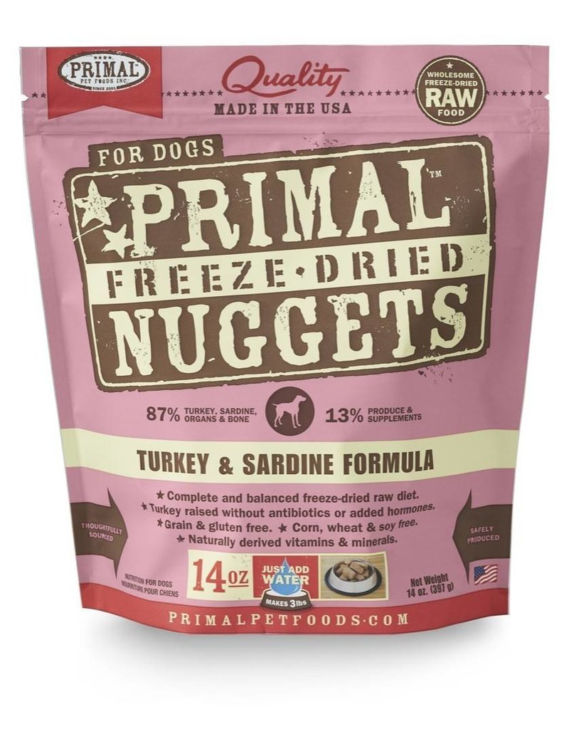 Primal Pet Foods PRIMAL Turkey & Sardine Freezedried Dog Food