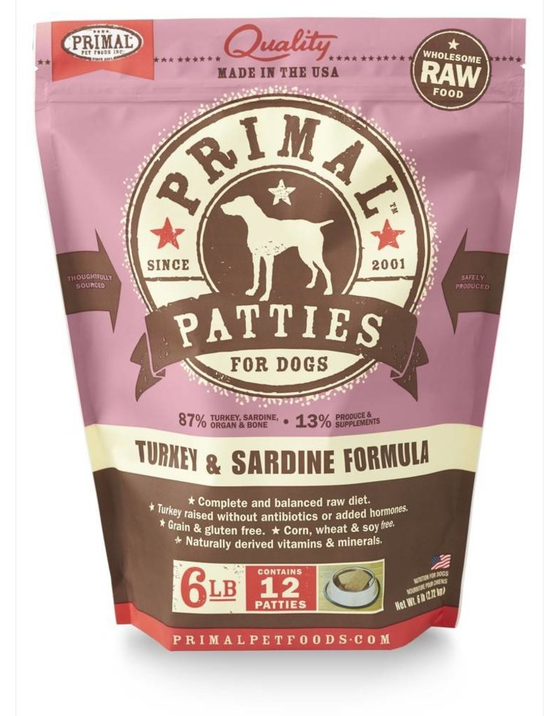 Primal Pet Foods PRIMAL Frozen Raw Canine Turkey & Sardine Formula