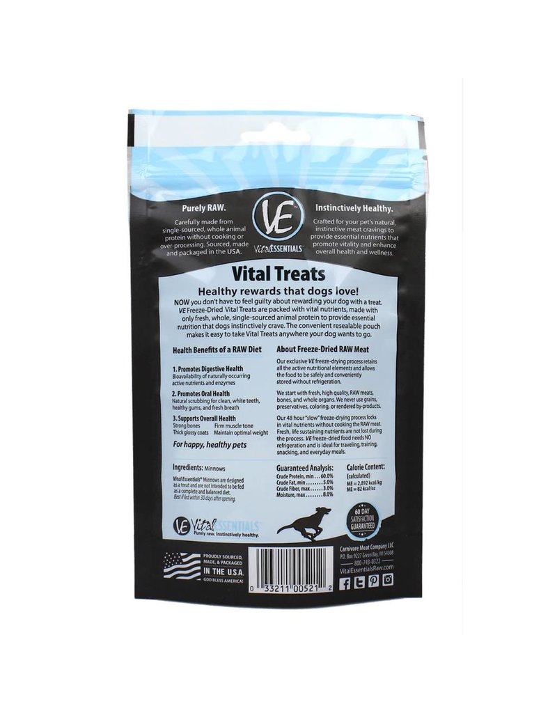 Vital Essentials VITAL ESSENTIALS Freezedried Minnow Dog Treat 1 oz.
