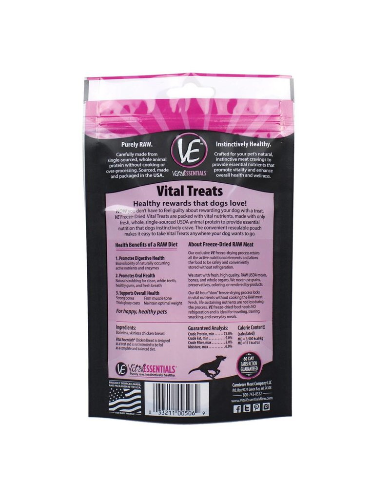 Vital Essentials VITAL ESSENTIALS Freezedried Diced Chicken Dog Treat 2.1 oz.
