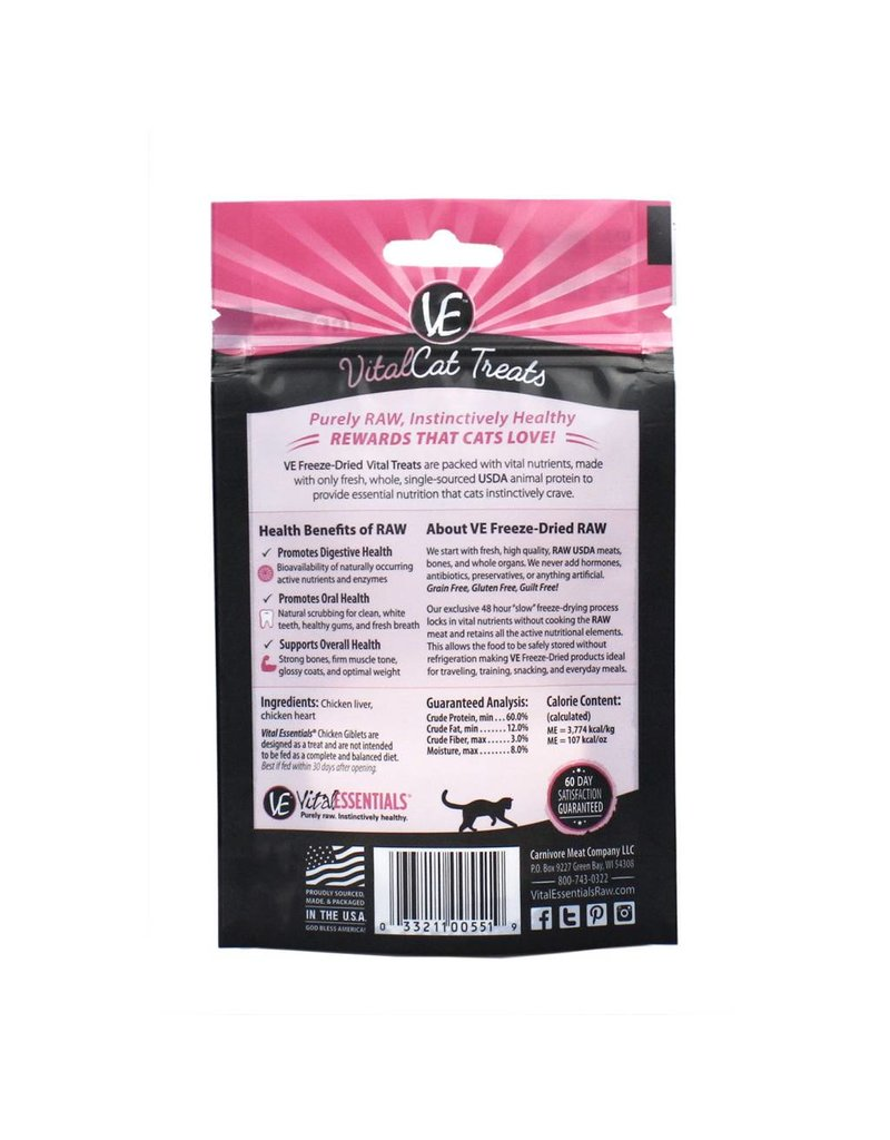 Vital Essentials VITAL ESSENTIALS Freezedried Chicken Giblets Cat Treat 1 oz.