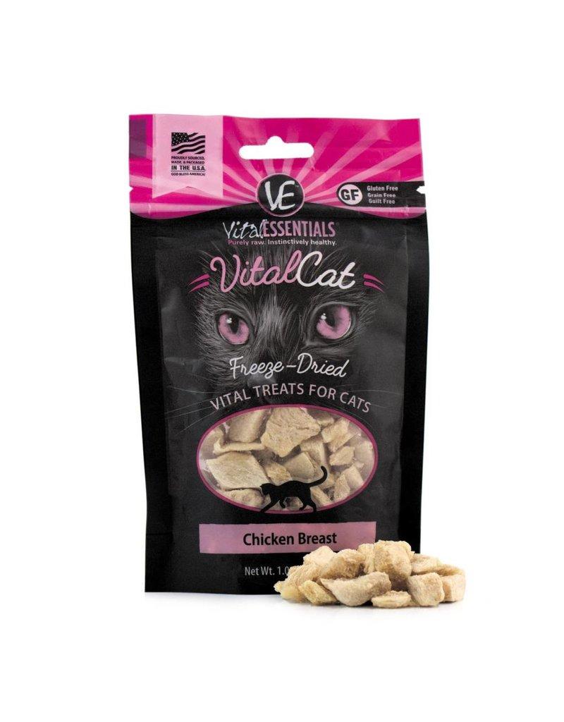 Vital Essentials VITAL ESSENTIALS Freezedried Chicken Cat Treat 1 oz.