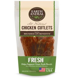 Earth Animal EARTH ANIMAL Brushed On Benefits Chicken Cutlet FRESH Dog Treat 8oz