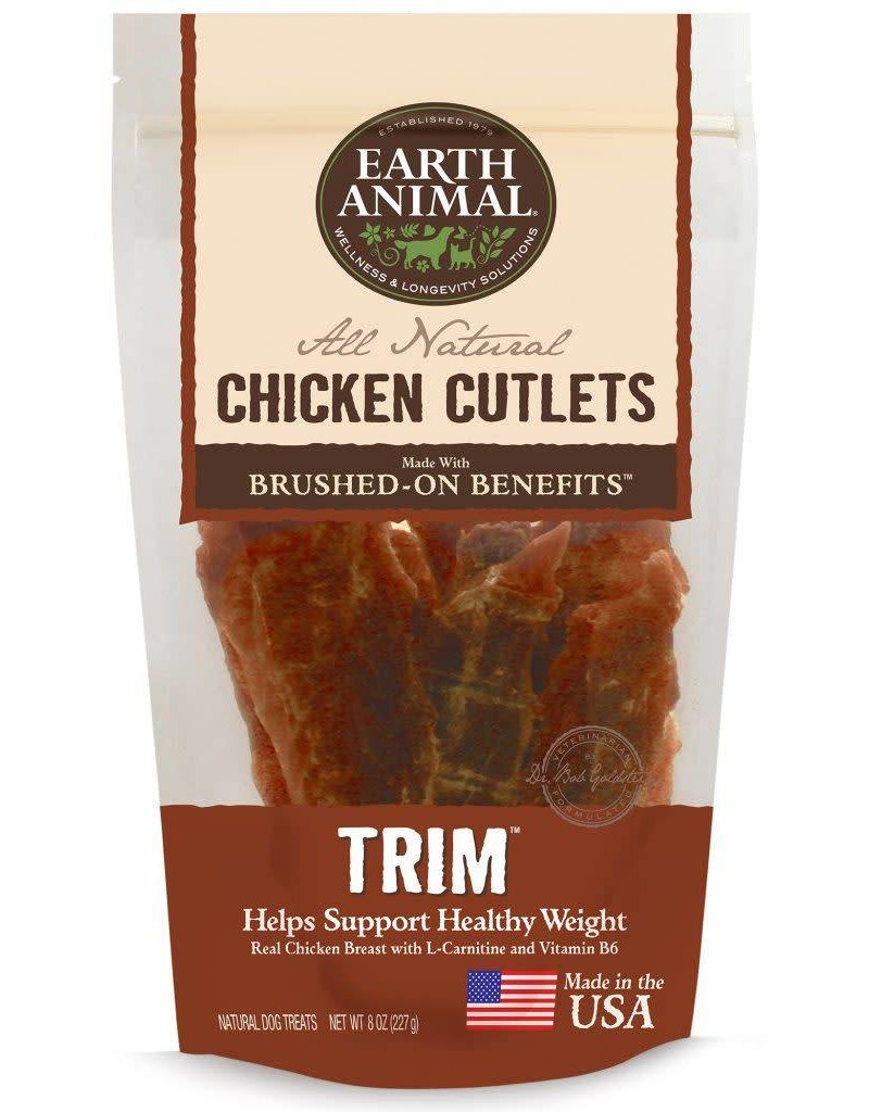 Earth Animal EARTH ANIMAL Brushed On Benefits Chicken Cutlet TRIM Dog Treat 8oz