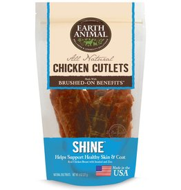 Earth Animal EARTH ANIMAL Brushed On Benefits Chicken Cutlet SHINE Dog Treat 8oz