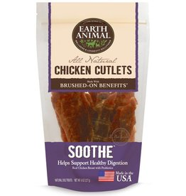 Earth Animal EARTH ANIMAL Brushed On Benefits Chicken Cutlet SOOTHE Dog Treat 8oz