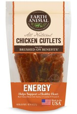 Earth Animal EARTH ANIMAL Brushed On Benefits Chicken Cutlet ENERGY Dog Treat 8oz